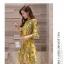 Dress4180 เดรสทรงสวย แขนระบาย ซิปหลังใส่ง่าย มีซับในทั้งชุด ผ้าชีฟองเนื้อดีลายกราฟฟิคโทนสีเหลือง งานดีทรงดี ใส่เมื่อไหร่ก็สวย ทรงนี้ใส่ได้เรื่อยๆ thumbnail 7