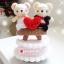 """ตุ๊กตาถัก หมีคู่รัก + กล่องดนตรี 7"""" thumbnail 1"""