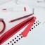 กระเป๋าเครื่องสำอางค์ Estee Lauder หนังสีขาวแดง thumbnail 7
