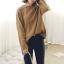 Sweater เสื้อสเวทเตอร์แขนยาว สีน้ำตาล ทรงสวย จะใส่เดี่ยวไหรือใส่โค้ทคลุมก็เริ่ด thumbnail 14