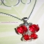 J04 สร้อยคอนิกเกิล&จี้ผีเสื้อสีแดง thumbnail 2