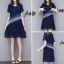 **สินค้าหมด Dress4146-Navy Blue เดรสทรงสวยแต่งระบายช่วงเอว มีซับในอย่างดีทั้งชุด ซิปข้างใส่ง่าย ผ้าชีฟองทึบแสงเนื้อดีนุ่มใส่สบาย ทรงนี้ใส่ได้เรื่อยๆ งานสวยใส่ง่ายน่ารักมาก (สีกรม) thumbnail 1