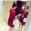 เสื้อคลุมสไตล์เกาหลี สีแดงแต่งลายสกรีน ทรงยาว น่ารัก พร้อมส่งจ้า thumbnail 5