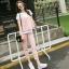 Set_bt1482 งานนำเข้าสไตล์เกาหลี ชุดเซ็ท 3 ชิ้น(เสื้อตัวใน+เสื้อตัวนอก+กางเกง)แยกชิ้น เสื้อยืดแขนสั้นสีขาว+เสื้อกล้ามตัวนอก+กางเกงขายาวห้าส่วนเอวยืดกระเป๋าข้าง ผ้าหนานุ่มเนื้อดีมีน้ำหนักยืดขยายได้เยอะ สีชมพูพาสเทล งานเซ็ทสามชิ้นสุดคุ้ม งานน่ารักเข้าชุดผ้าเ thumbnail 1