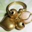 (ขายแล้วค่ะ) C015 แหวนทองเหลือง ประดับหินอาเกตขาว thumbnail 3