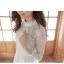 Dress3769 ชุดเดรสลูกไม้แขนยาวสีขาวงานเกรดพรีเมียม อกซีทรู คอแต่งลูกไม้ฉลุ มีซับในอย่างดีทั้งชุด ซิปหลัง งานผ้าลูกไม้อัดผ้ากาวเนื้อหนาสวยอยู่ทรง งานสวยหรูดูแพงสุดๆ แนะนำเลยจ้า thumbnail 10