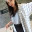 เสื้อแฟชั่น ชีฟอง ลายตาราง สีขาวลายดำ เหมาะกับวันสบายๆ ชิลๆ thumbnail 2
