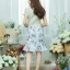 เดรสผ้าบุชเซอร์พิมพ์ลายดอก + ผ้าฮานาโก๊ะ ซิปซ้อนด้านหลัง(ซับในไฮเกรดทั้งชุด) thumbnail 5