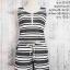 set_bp1157 ชุดเซ็ท 2 ชิ้น(เสื้อ+กางเกง)แยกชิ้น เสื้อแขนกุดแต่งซิปอก+กางเกงขาสั้นเอวยืดมีกระเป๋าข้าง ผ้าหนังไก่เนื้อนุ่มยืดได้เยอะ ลายริ้วเล็กสีขาวดำ thumbnail 1