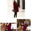 เสื้อโค้ทกันหนาว สไตล์เกาหลี ทรงสวย Classic ผ้าสักกะหลาด บุซับในกันลม ใส่แบบตั้งปกขึ้นก็เก๋ สีไวน์แดง พร้อมส่ง thumbnail 3
