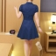 **สินค้าหมด Dress4033 เดรสคอปกกระดุมหน้ามีผ้าผูกเอว หน้าอกปักอาร์มเพิ่มความน่ารัก ผ้าคอตตอนผสมโพลีสีพื้นเนื้อดีหนาสวยเกรดพรีเมียม งานน่ารัก ใส่เก๋ๆ ได้บ่อยจ้า (สีพื้นกรมท่า) thumbnail 7
