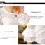 Blouse3515 เสื้อแฟชั่นเกาหลีผ้าลูกไม้คอตตอนเนื้อนิ่มสีพื้นขาว แขนยาวสี่ส่วนแต่งระบาย ผ้าลูกไม้ลายสวย งานเกรดพรีเมียมดูหรูดูแพง ใส่เก๋ๆ ได้บ่อย thumbnail 25