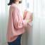 Sweater เสื้อสเวทเตอร์แขนยาว สีชมพู ทรงสวย จะใส่เดี่ยวไหรือใส่โค้ทคลุมก็เริ่ด thumbnail 11