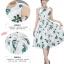 **สินค้าหมด Dress3973 ชุดเดรสยาวทรงสวยลายใบไม้พื้นสีขาว มีผ้าผูกเอว ผ้าซาตินซิลค์เนื้อหนามีน้ำหนักทิ้งตัวสวย มีซับในทั้งชุด งานสวยหรูตัดเย็บอย่างดี ผ้าสวยเกินราคา ใส่ออกงานได้เลยจ้า thumbnail 9
