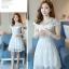 Dress4072 เดรสลูกไม้ลายสวยสีขาวสุดคลาสสิค มีซิปหลังใส่ง่าย งานดีทรงดีใส่สวย เรียบแต่หรู ผ้าดีเหมือนราคาหลักพัน ใส่ออกงานได้สบาย thumbnail 1