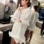เสื้อตัวยาว/ mini dress สุดน่ารัก ผ้า cotton เนื้อนุ่มแต่งระบายหวานๆ thumbnail 10