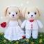 ตุ๊กตาถัก หมีแต่งงาน 8 นิ้ว thumbnail 1
