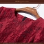 Dress3828 ชุดเดรสทรงสวยซิปหลังแขนยาวสี่ส่วนสีไวน์แดง งานสวยหรูบุซับในอย่างดีทั้งชุด ผ้าเนื้อดีหนาสวยเป็นงานฉลุลายดอกไม้บนเนื้อผ้า(งานดีผ้าสวยมาก) งานเนี้ยบ คัตติ้งอย่างดี แพทเทิร์นเป๊ะ ใส่ออกงานได้เลยจ้า thumbnail 10
