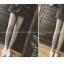 กางเกงขายาว ผ้าคอตตอนผสม ด้านในเป็นผ้าสำลี สกรีนลายตัวอักษรด้านข้าง พร้อมส่ง thumbnail 10