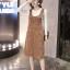 Dress3865-Brown ชุดเอี๊ยมกระโปรงยาวผ้ายีนส์ลูกฟูกเนื้อดีมาก สายปรับความยาวได้ มีกระเป๋าหน้า/ข้างและหลัง ผ่าชายกระโปรงด้านหลังเล็กน้อยเพื่อความคล่องตัว งานดีทรงสวยใส่แล้วน่ารักสุดๆ (สีพื้นน้ำตาล) thumbnail 1