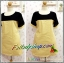 ชุดเดรสผ้าลายสก๊อตเหลือง ผ้าทอแคนวาสเนื้อดี อก46.5 บ่า18 วงแขน21 เอว45 โพก48 ยาว35นิ้ว thumbnail 1