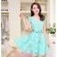 Dress4138 เดรสลูกไม้ทรงสวยสีฟ้าอมเขียว มีผ้าผูกเอว ซิปข้างใส่ง่าย ซับในทั้งชุด ผ้าลูกไม้ยืดเนื้อนุ่มใส่สบาย งานดีทรงดีสีสวย ใส่ออกงานได้สบาย thumbnail 7