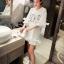 เสื้อตัวยาว/ mini dress สุดน่ารัก ผ้า cotton เนื้อนุ่มแต่งระบายหวานๆ thumbnail 17
