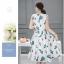 **สินค้าหมด Dress3973 ชุดเดรสยาวทรงสวยลายใบไม้พื้นสีขาว มีผ้าผูกเอว ผ้าซาตินซิลค์เนื้อหนามีน้ำหนักทิ้งตัวสวย มีซับในทั้งชุด งานสวยหรูตัดเย็บอย่างดี ผ้าสวยเกินราคา ใส่ออกงานได้เลยจ้า thumbnail 10