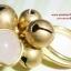 (ขายแล้วค่ะ) C014 แหวนทองเหลือง ประดับหินโรสควอตซ์ thumbnail 1