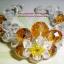 (ขายแล้วค่ะ) L03 สร้อยข้อมือถักรูปดอกไม้ (สีเหลือง)คริสตัลโมดาร์ thumbnail 1
