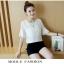 **สินค้าหมด Set_bp1548 ชุด 2 ชิ้น(เสื้อ+กางเกง) เสื้อแขนสามส่วนระบายอกแต่งลูกไม้ผ้าชีฟองเนื้อนุ่มสีพื้นขาว+กางเกงขาสั้นเอวยืดผ้าคอตตอนเนื้อดีสีพื้นดำ งานสวยน่ารักผ้าเนื้อดีนุ่มใส่สบาย ผ้าสวยเกินราคา แมทช์กันได้อย่างลงตัว thumbnail 4