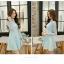 Dress3884-สีฟ้า ชุดเดรสทรงสวยโทนสีพาสเทล แขนยาวลูกไม้เนื้อนุ่ม ตัดเย็บด้วยผ้าเนื้อโฟมหนานิ่มมีน้ำหนักทิ้งตัวสวย มีซิปหลังใส่ง่าย งานดีเกรดพรีเมี่ยมคุณภาพเหมือนราคาหลักพัน ทรงสวยเป๊ะใส่ออกงานสวยๆ รุ่นนี้ได้ไปถูกใจแน่นอนคอนเฟิร์มจ้า thumbnail 4