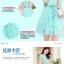 Dress4138 เดรสลูกไม้ทรงสวยสีฟ้าอมเขียว มีผ้าผูกเอว ซิปข้างใส่ง่าย ซับในทั้งชุด ผ้าลูกไม้ยืดเนื้อนุ่มใส่สบาย งานดีทรงดีสีสวย ใส่ออกงานได้สบาย thumbnail 4