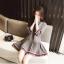 **สินค้าหมด Dress4084 เดรสแขนยาวทรงสวยสีพื้นเทา แต่งแถบสีขาวแดง กระโปรงจับจีบรอบ มีซิปหลังใส่ง่าย งานดีมีซับในทั้งชุด ผ้าเนื้อดีมีน้ำหนักทิ้งตัว ผ้านุ่มใส่สบาย งานสวยใส่ง่ายน่ารักมาก thumbnail 13