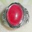 (ขายแล้วค่ะ) V001 แหวนนิกเกิล หินมอกาไนต์ (หินมงคลนำโชค)ขนาดความกว้างวง 2.30 ซม thumbnail 2