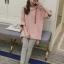 Set_bt1591 ชุด 2 ชิ้น(เสื้อ+กางเกง) เสื้อแขนยาวมีฮู้ดทรงโอเวอร์ไซส์หน้าสั้นหลังยาวผ้าหนาเนื้อดีมีน้ำหนักทิ้งตัวยืดขยายได้เยอะ กางเกงเลกกิ้งขายาวเอวยืดผ้าคอตตอนเนื้อนุ่มสีพื้นเทา งานน่ารักผ้าเนื้อดีนุ่มใส่สบาย เซ็ทสองชิ้นสวยคุ้ม thumbnail 2