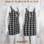 LOT SALE!! Dress2091 เดรสแฟชั่น ผ้าเนื้อดีหนาสวยยืดขยายได้เยอะ โทนสีขาวดำลายชาแนล thumbnail 1