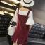 Dress4056 ชุดเอี๊ยมกระโปรงผ้ายีนส์ลูกฟูกเนื้อดีทรงสวย สายปรับความยาวได้ มีกระเป๋าหน้าและข้าง ผ่าชายกระโปรงด้านหลังเล็กน้อยเพื่อความคล่องตัว งานน่ารักผ้าเนื้อดีใส่สบาย แมทช์กับเสื้อได้หลายแบบ (ไม่รวมเสื้อตัวใน) มี 4 สี ดำ, เลือดหมู, ชมพู, น้ำตาล thumbnail 13