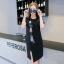 Dress4125 ชุดเดรสทรงปล่อยสีพื้นดำแต่งลายการ์ตูน ผ้าคอตตอนเนื้อดียืดขยายได้เยอะ ผ่าชายกระโปรงเล็กน้อยเพื่อความคล่องตัว ดีเทลดีงาม งานสวยใส่ง่ายน่ารักมาก thumbnail 6