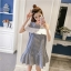 **สินค้าหมด Dress4157 เดรสทรงปล่อยเว้าไหล่แต่งระบายสีขาวช่วงอก ผ้าคอตตอนลายริ้วเนื้อดีนุ่มใส่สบาย งานสวยใส่ง่ายน่ารักมาก ทรงนี้มีติดตู้ไว้ใส่ได้เรื่อยๆ มี 2 สี แดง, กรม thumbnail 9