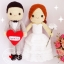 """ตุ๊กตาถัก คนแต่งงาน 17"""" (2) thumbnail 1"""