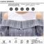 **สินค้าหมด Dress4038 เดรสทรงปล่อยเว้าไหล่แขนตุ๊กตา ช่วงบ่าผ้าคอตตอนเนื้อนุ่มสีพื้นขาวตัดต่อผ้าทอญี่ปุ่นเนื้อดีหนาเรียบสวยไม่ยับง่ายลายสก็อตโทนสีเทา แต่งกระดุมหน้า มีเข็มขัดผ้าเข้าชุด งานน่ารักผ้าเนื้อดีสวยเกินราคา ชุดเดียวสวยจบ ทรงนี้ใส่ได้บ่อย แนะนำเลยน thumbnail 7