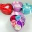 กล่องหัวใจวาเลนไทน์ ดอกกุหลาบ6ดอก(มีกลิ่นหอม) รวมสี thumbnail 1
