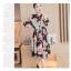 Dress4160 Maxi Dress แม็กซี่เดรสยาวคอปกเชิ้ต กระดุมผ่าหน้า แขนยาวกระดุมข้อมือ มีซับใน ผ้าชีฟองเนื้อดีนุ่มเกรดพรีเมียมลายดอกไม้โทนชมพูพื้นสีดำ ผ้าดีมีน้ำหนักทิ้งตัว งานดีใส่สวย thumbnail 4