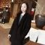 เสื้อโค้ทกันหนาว สไตล์เกาหลี ทรงสวย Classic ผ้าวูลเนื้อดี บุซับในกันลม ใส่แบบตั้งปกขึ้นก็เก๋ สีดำ พร้อมส่ง thumbnail 1