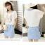 **สินค้าหมด Dress4030 ชุด 2 ชิ้น(เสื้อ+เดรส) เสื้อแขนสั้นเอวรูดพิมพ์ลายกระต่ายสีพื้นขาวครีม เดรสตัวในลายริ้วสีฟ้าขาวมีกระเป๋าข้างผ้าคอตตอนเนื้อนุ่มใส่สบายยืดขยายได้ งานสวยใส่ง่ายน่ารักมาก thumbnail 9