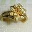 (ขายแล้วค่ะ) C009 แหวนทองเหลือง รูปดอกไม้เล็ก ขนาดความกว้างวง 2 ซม thumbnail 2