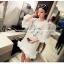 เสื้อตัวยาว/ mini dress สุดน่ารัก ผ้า cotton เนื้อนุ่มแต่งระบายหวานๆ thumbnail 6