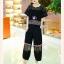 **สินค้าหมด Set_bt1576 ชุดเซ็ท 2 ชิ้น(เสื้อ+กางเกง) เสื้อทรงโอเวอร์ไซส์อกและแขนผ้าตาข่ายเนื้อหนางานดี กางเกงขายาวเอวสม็อคยางยืดแต่งซีทรูช่วงเข่า มีกระเป๋าข้าง ผ้าฮานาโกะสีพื้นเนื้อดีนุ่มใส่สบาย งานน่ารักไม่ซ้ำใคร เซ็ทสองชิ้นสุดคุ้ม ใส่เก๋ๆ ได้บ่อย thumbnail 4