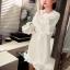 เสื้อตัวยาว/ mini dress สุดน่ารัก ผ้า cotton เนื้อนุ่มแต่งระบายหวานๆ thumbnail 16
